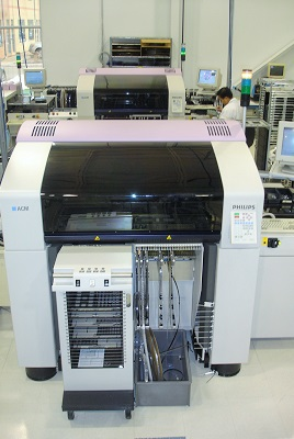 Picture of our Assembleon ACM pick and place machine